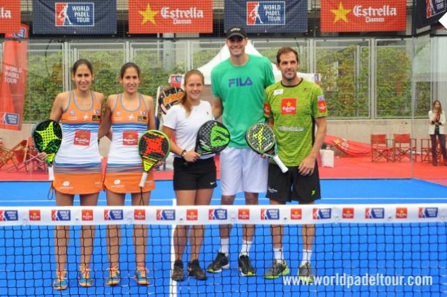 Дарья Касаткина — пробная игра в падел в Мадриде.